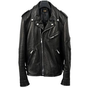 Rider's Jacket<br>Vegetable Leather<br>Black