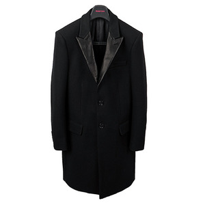 SLP Leather Collar Coat