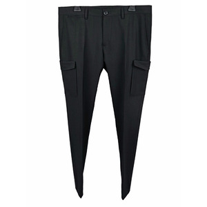 Wool Cargo Pants - Black