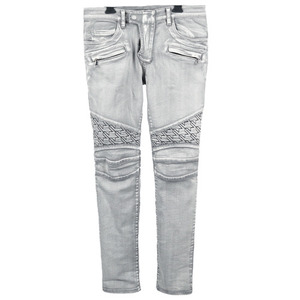 [���԰�Ϸ�] Grey Washed <br> Houndstooth Biker jeans