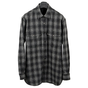[30% OFF] SLP Oversize Tweed Check Shirt