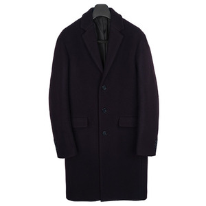 Drop Shoulder Coat - DarkWine