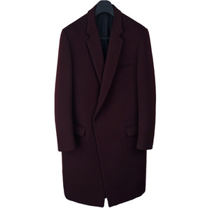 Crombie Coat - Deep Wine