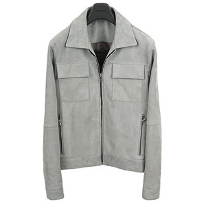 2�� �԰� Two Pocket Suede Blouson <br> Goat Skin [Mint Gray]