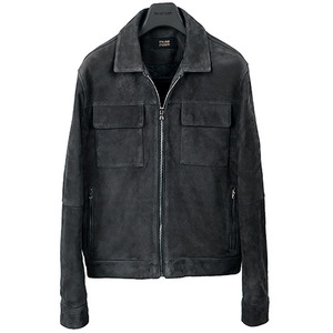 Two Pocket Suede Blouson <br> Goat Skin [Charcoal Gray]